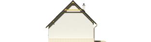 Projekt domu Oleńka - elewacja prawa
