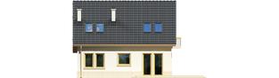 Projekt domu Oleńka - elewacja tylna