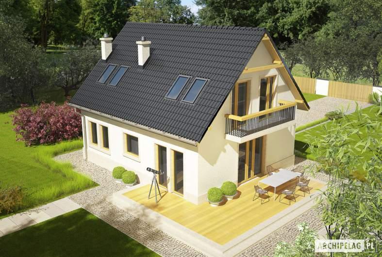Projekt domu Oleńka - widok z góry