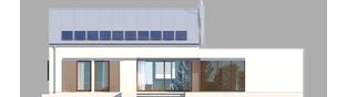 Projekt domu EX 8 G2 (wersja A) ENERGO PLUS - elewacja tylna