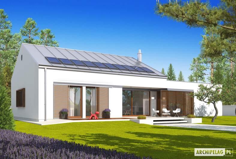 Projekt domu EX 8 G2 (wersja A) - wizualizacja ogrodowa