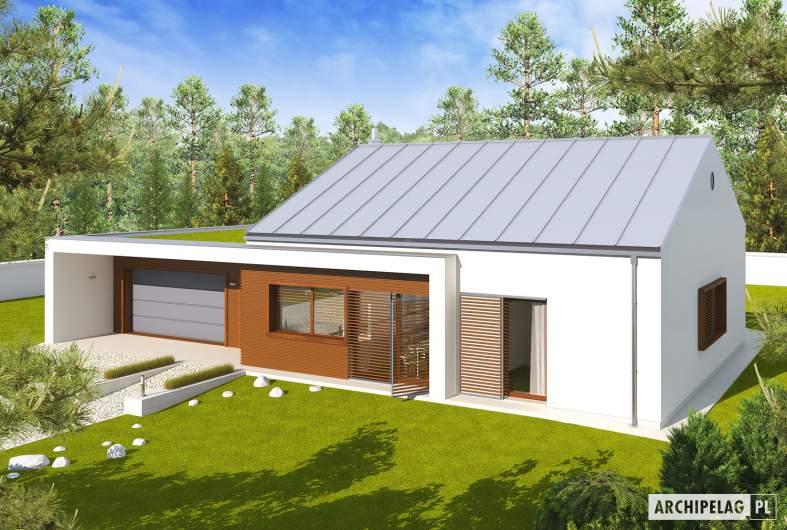 Projekt domu EX 8 G2 (wersja A) - widok z góry