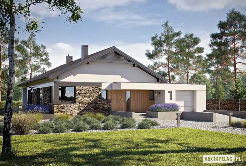 Projekt domu Daniel II G1 - wizualizacja frontowa