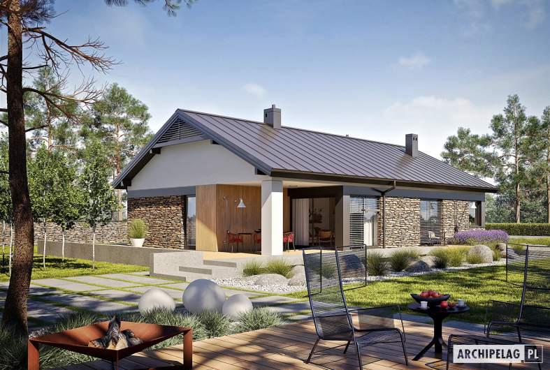 Projekt domu Daniel II G1 - wizualizacja ogrodowa
