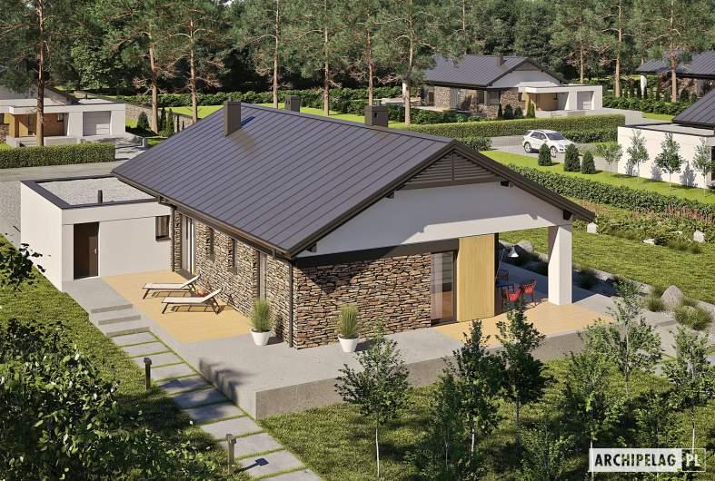 Projekt domu Daniel II G1 - widok z góry
