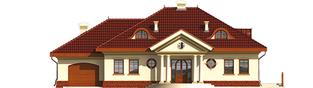 Projekt domu Radomiła G1 - elewacja frontowa