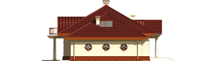 Projekt domu Radomiła G1 - elewacja lewa