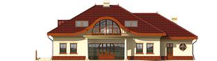 Projekt domu Radomiła G1 - elewacja tylna