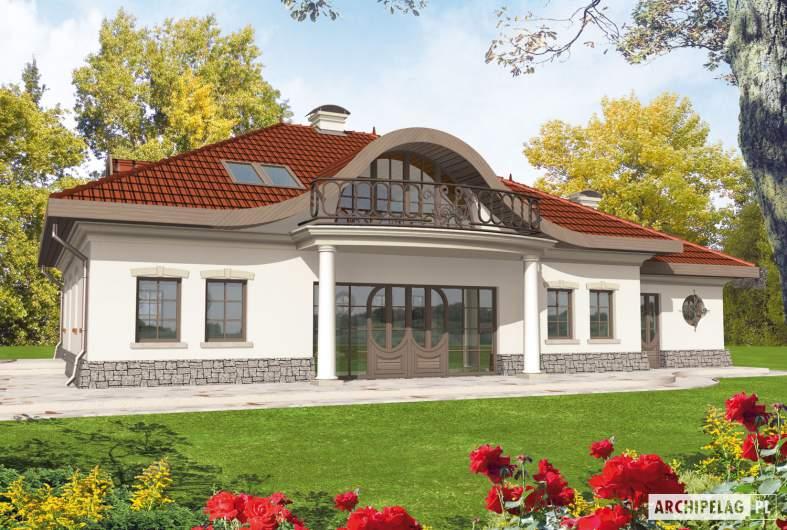 Projekt domu Radomiła G1 - wizualizacja ogrodowa