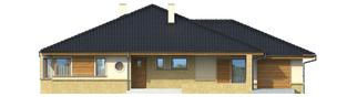 Projekt domu Flori G1 - elewacja frontowa