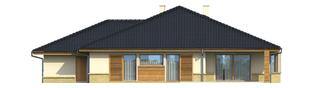 Projekt domu Flori G1 - elewacja tylna