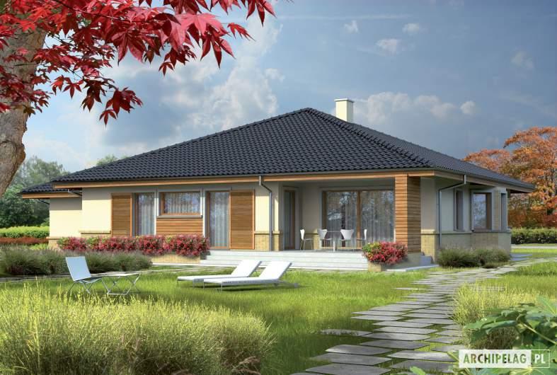 Projekt domu Flori G1 - wizualizacja ogrodowa
