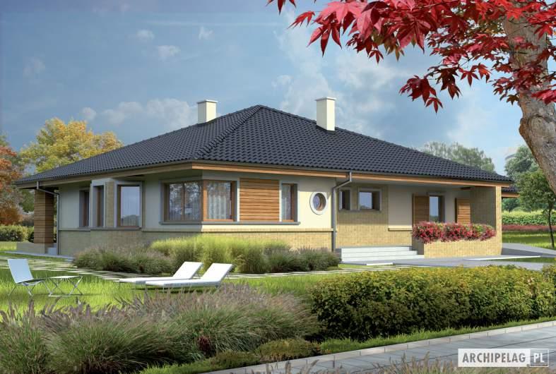 Projekt domu Flori G1 - wizualizacja frontowa