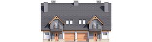 Projekt domu Sambor G2 (dwulokalowy) - elewacja frontowa