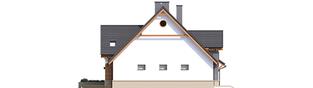 Projekt domu Sambor G2 (dwulokalowy) - elewacja lewa