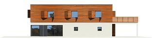 Projekt domu Horizon (z wiatą) - elewacja lewa
