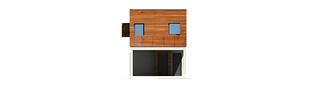 Projekt domu Horizon (z wiatą) - elewacja frontowa