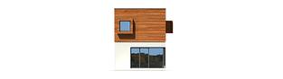 Projekt domu Horizon (z wiatą) - elewacja tylna