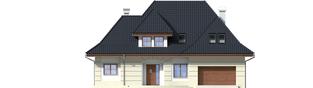 Projekt domu Nasturcja G2 - elewacja frontowa