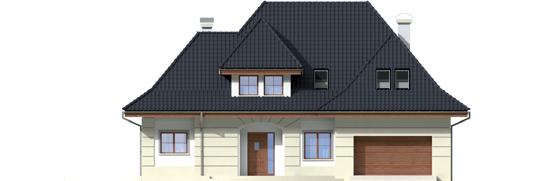 Nancie G2 - Projekt domu Nasturcja G2 - elewacja frontowa