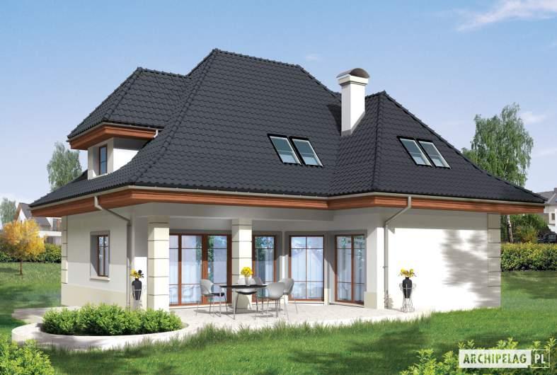 Projekt domu Nasturcja G2 - wizualizacja ogrodowa