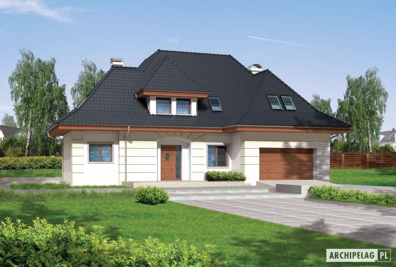 Projekt domu Nasturcja G2 - wizualizacja frontowa