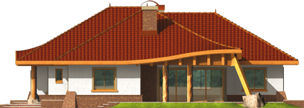 Sandra - Projekt domu Sandra G2 - elewacja prawa