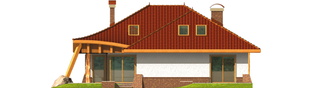 Projekt domu Sandra G2 - elewacja tylna