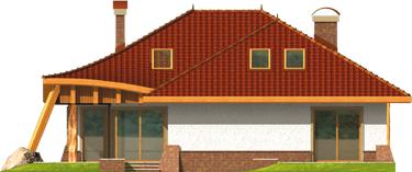 Sandra - Projekt domu Sandra G2 - elewacja tylna