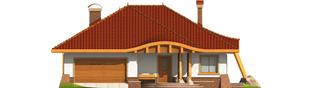 Projekt domu Sandra G2 - elewacja frontowa