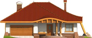 Sandra - Projekt domu Sandra G2 - elewacja frontowa