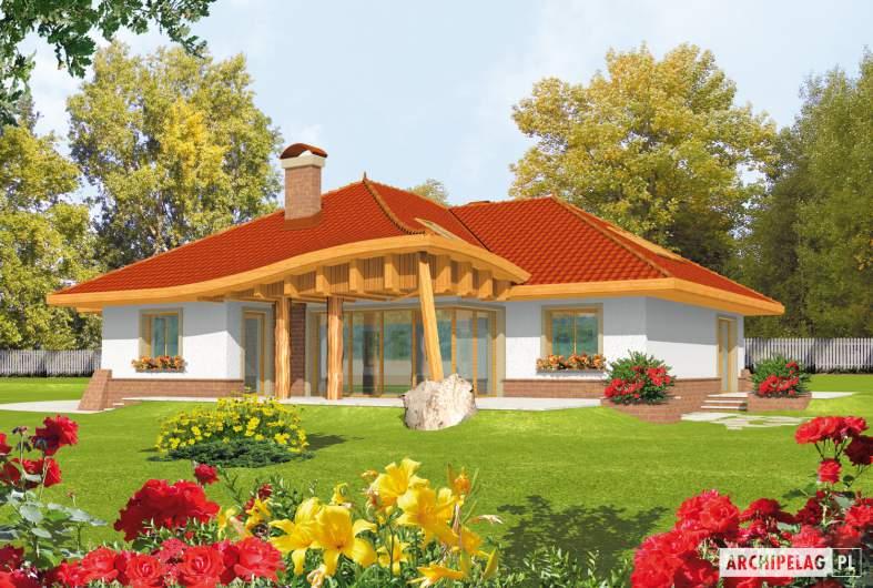 Projekt domu Sandra G2 - wizualizacja ogrodowa