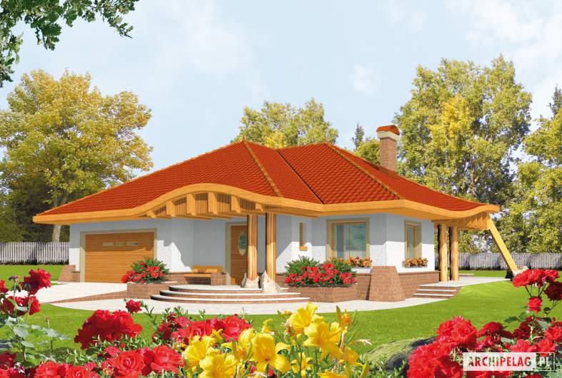 Projekt domu Sandra G2 - wizualizacja frontowa
