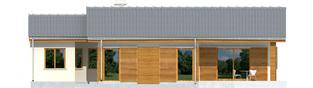 Projekt domu Bob G1 - elewacja tylna
