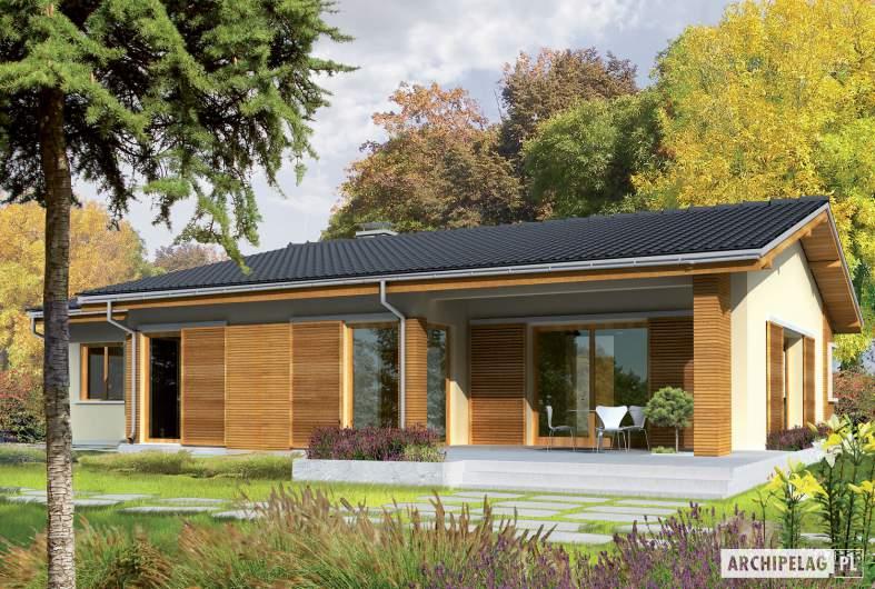 Projekt domu Bob G1 - wizualizacja ogrodowa