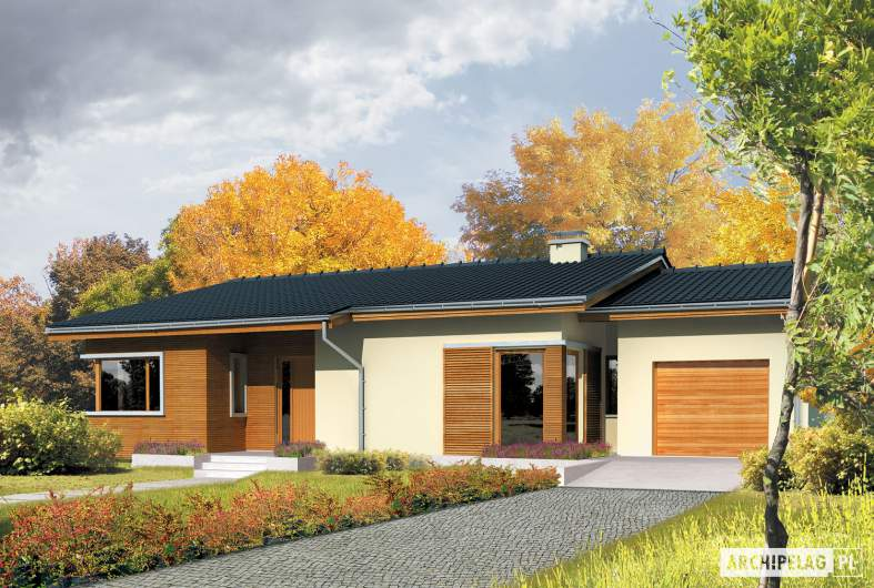 Projekt domu Bob G1 - wizualizacja frontowa