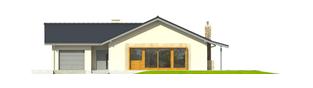 Projekt domu Selena II G1 (30 stopni) - elewacja frontowa
