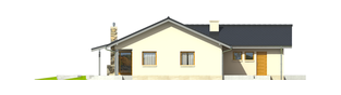 Projekt domu Selena II G1 (30 stopni) - elewacja prawa