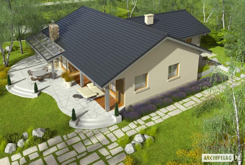 Projekt domu Selena II G1 (30 stopni) - Projekty domów ARCHIPELAG - Selena II G1 30° - widok z góry