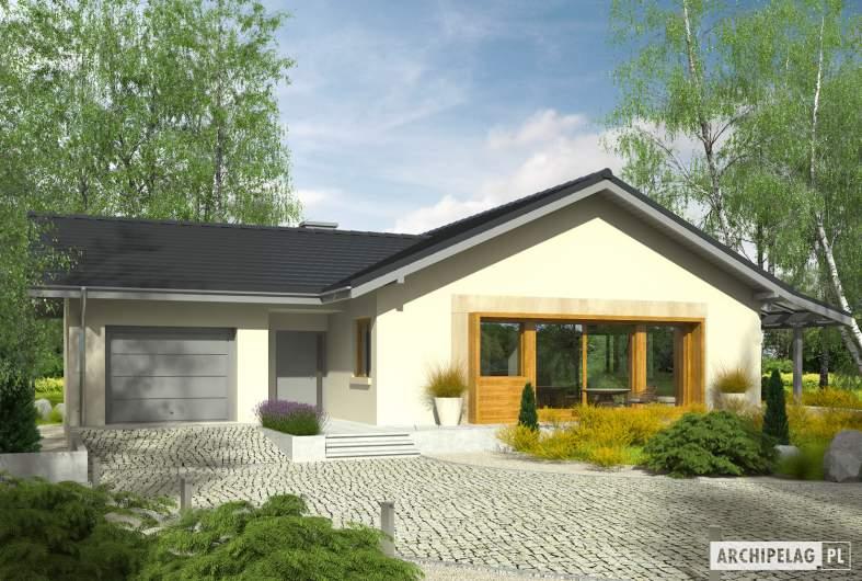 Projekt domu Selena II G1 (30 stopni) - Projekty domów ARCHIPELAG - Selena II G1 30° - wizualizacja frontowa