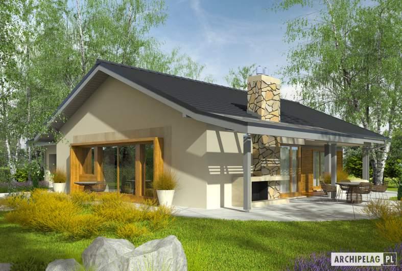 Projekt domu Selena II G1 (30 stopni) - Projekty domów ARCHIPELAG - Selena II G1 30° - wizualizacja ogrodowa