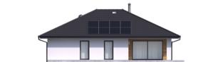 Projekt domu Mini 4 PLUS - elewacja tylna