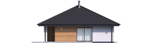 Projekt domu Mini 4 PLUS - elewacja lewa
