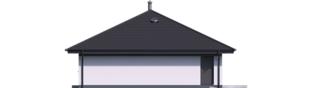 Projekt domu Mini 4 PLUS - elewacja prawa