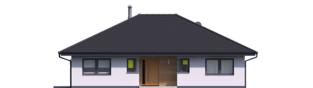 Projekt domu Mini 4 PLUS - elewacja frontowa