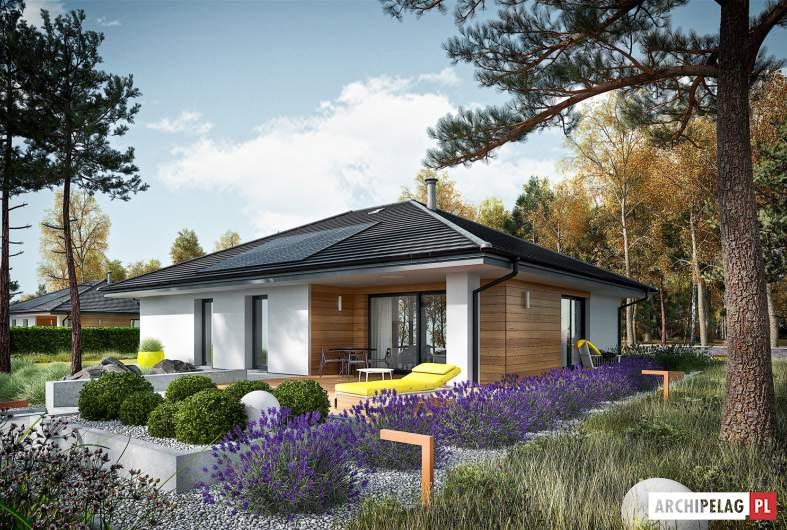 Projekt domu Mini 4 PLUS - wizualizacja ogrodowa