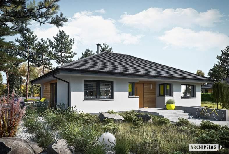 Projekt domu Mini 4 PLUS - wizualizacja frontowa