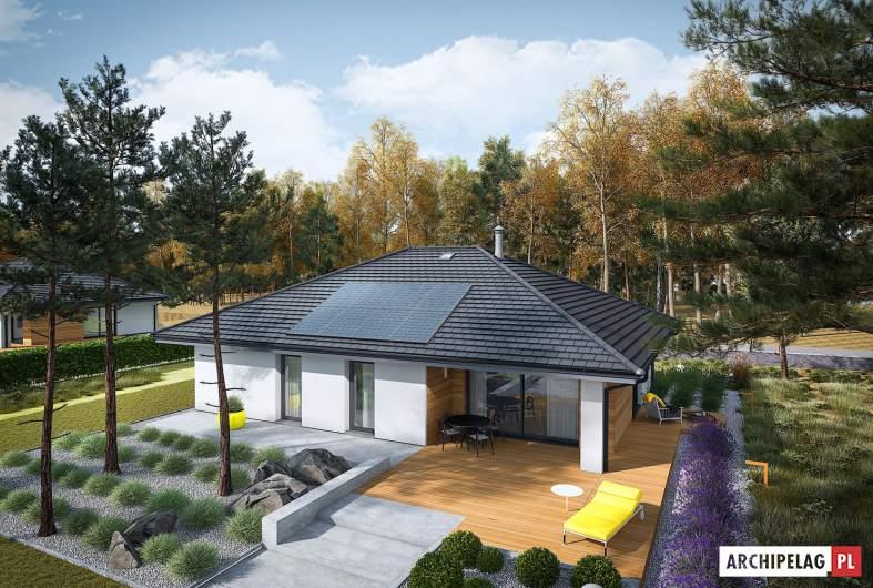 Projekt domu Mini 4 PLUS - widok z góry
