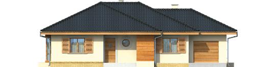 Francis G1 - Projekt domu Franczi G1 - elewacja frontowa