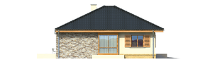 Projekt domu Franczi G1 - elewacja lewa